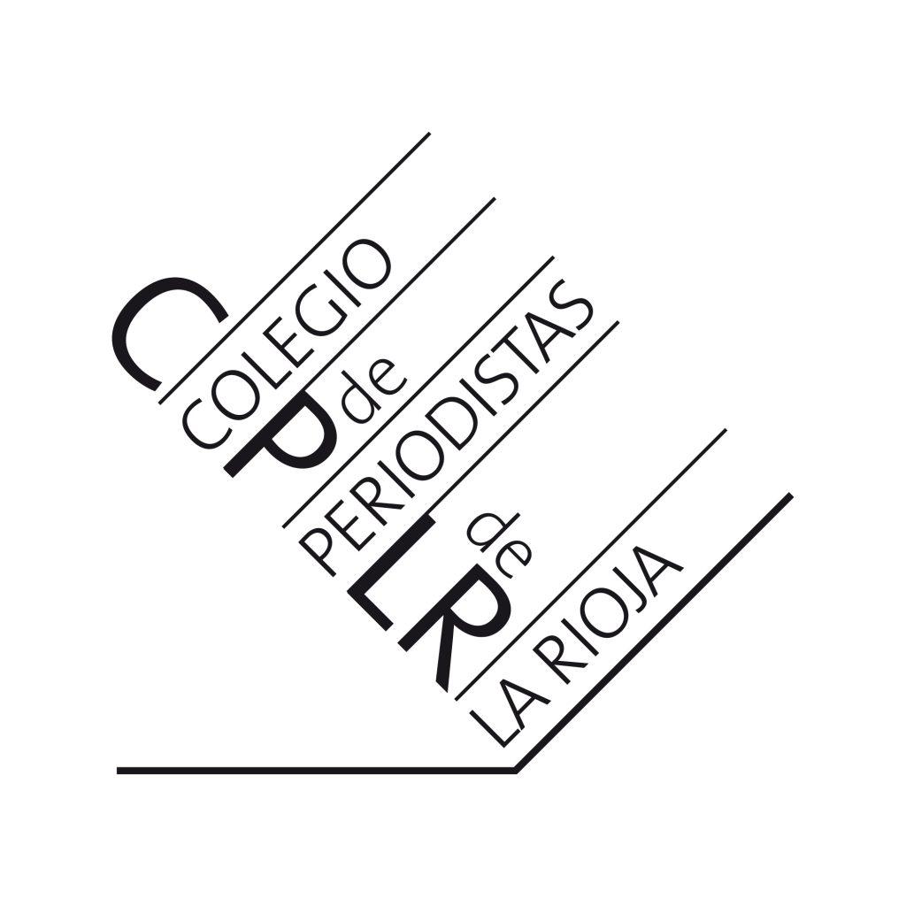 Propuesta no aprobada para el concurso de diseño del logotipo del Colegio de Periodistas de La Rioja. 2016.