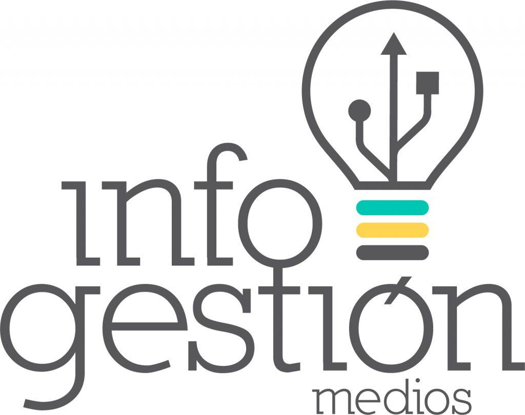Logotipo para Infogestión Medios, empresa especializada en programación a medida y diseño de páginas web.