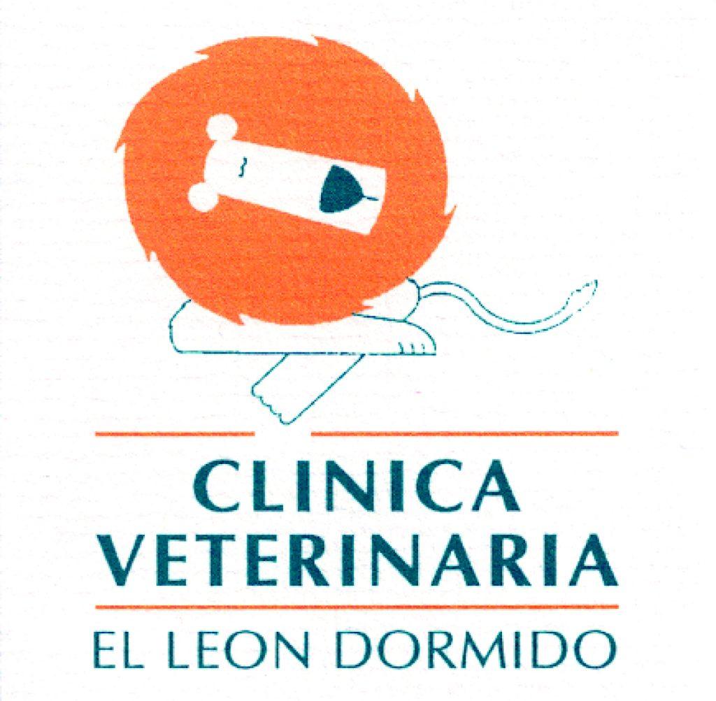Antiguo logotipo Clínica Veterinaria El León Dormido.