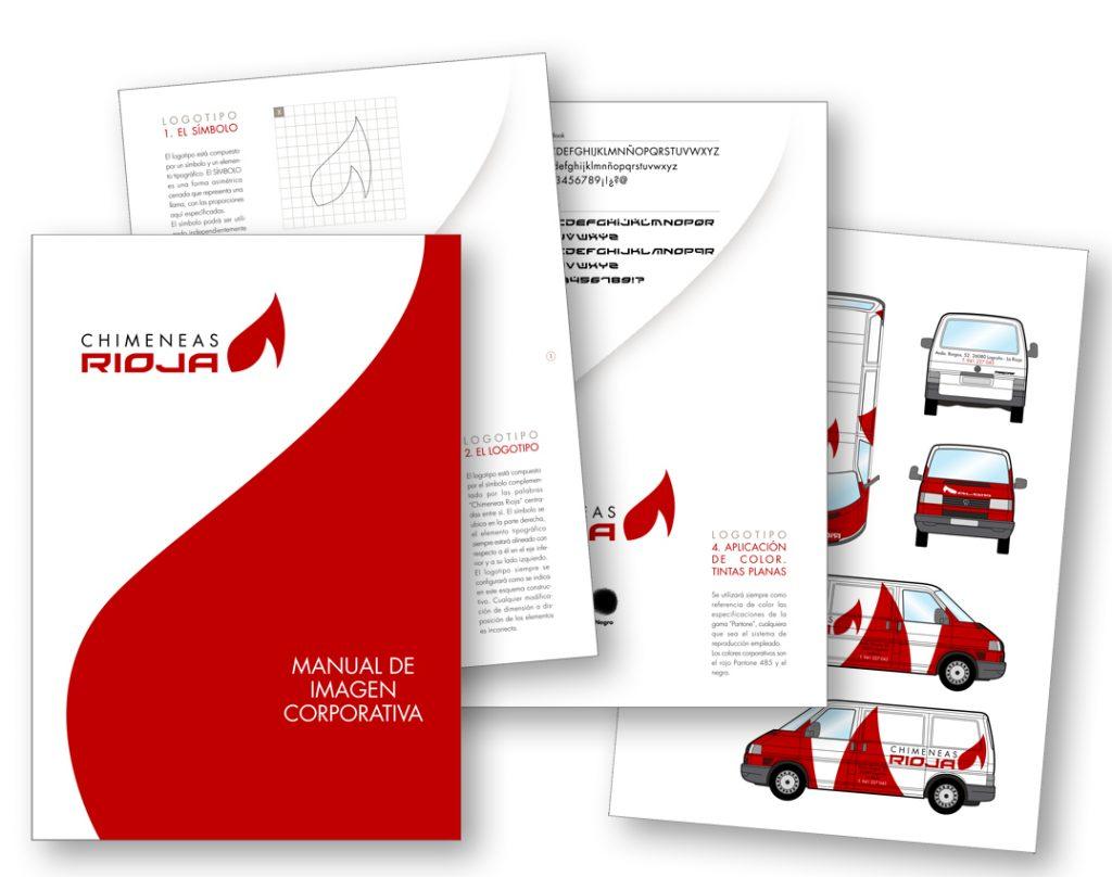 Manual de Imagen Corporativa de Chimeneas Rioja.