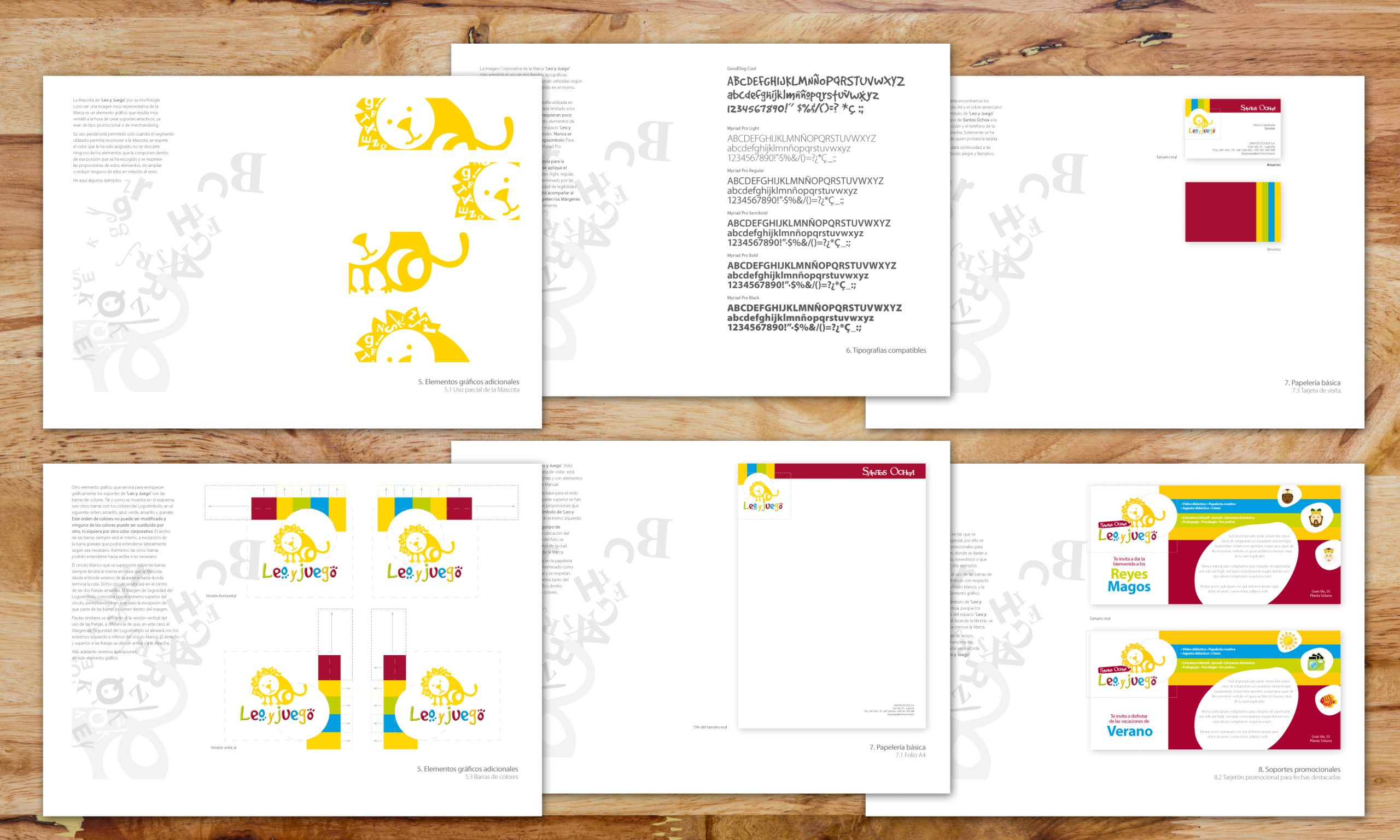 Diseño de papelería básica y tarjetón promocional. Aplicación de elementos gráficos adicionales.