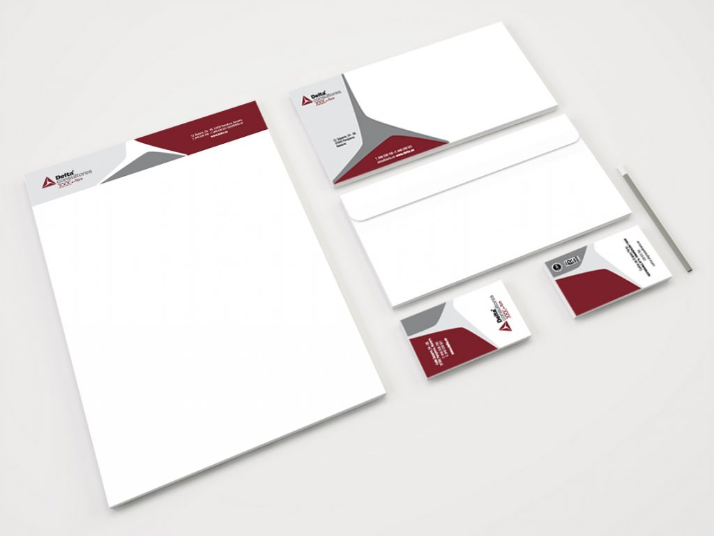 Diseño de papelería de Delta Consultores, con motivo de su 30 aniversario.