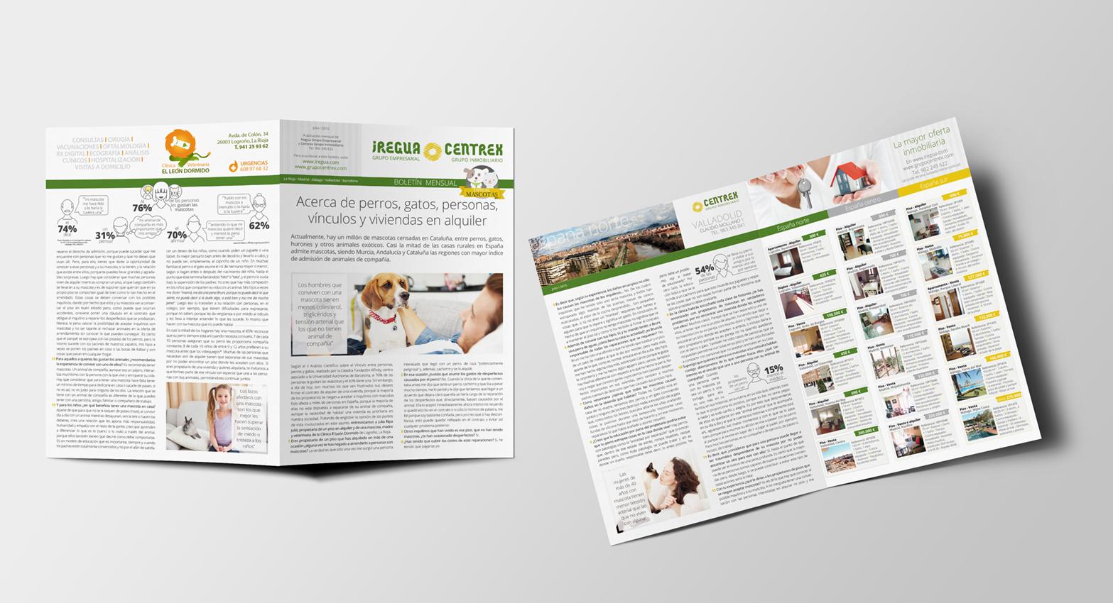 Boletín mensual, marzo, 2015. Redacción de contenidos, diseño de infografías y maquetación, desde octubre de 2014 hasta febrero de 2016.