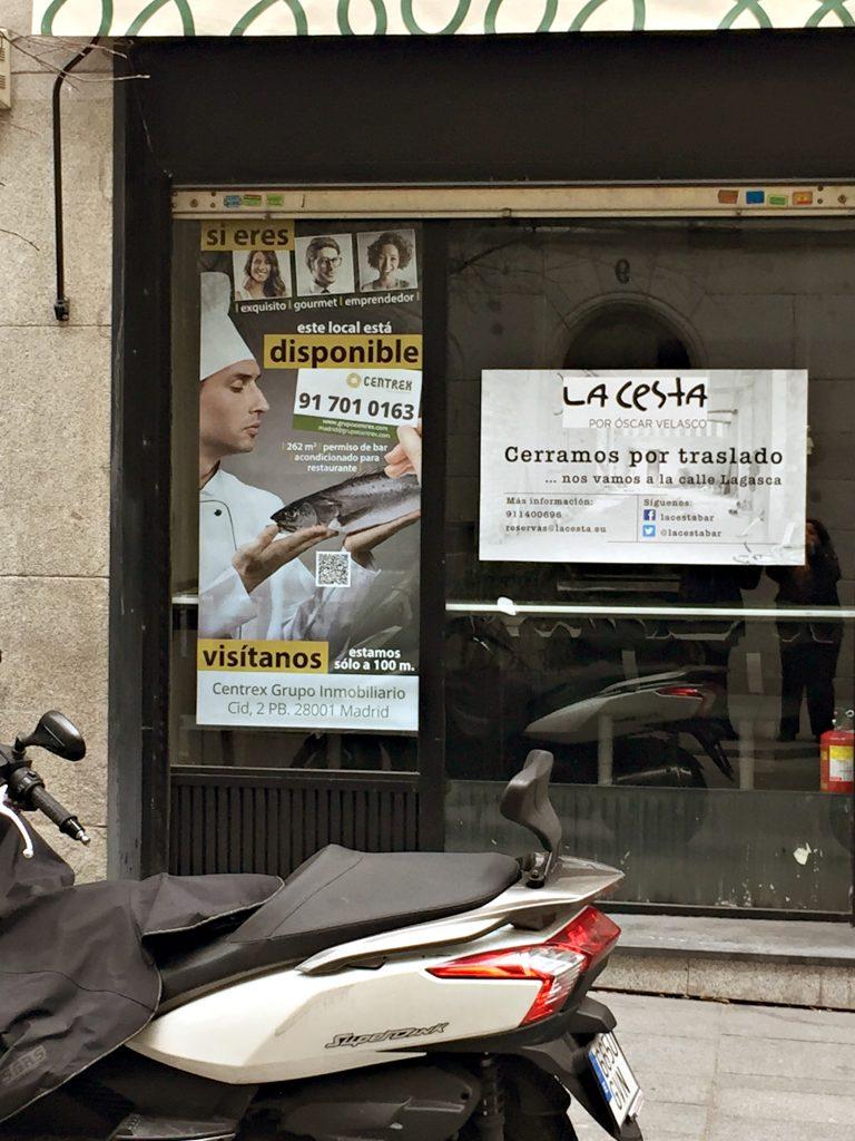 """Cartel promocional para local """"En Exclusiva"""" en Madrid. Grupo Empresarial Iregua. 2015."""