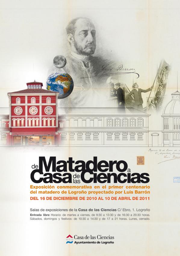 """Cartel Exposición """"De Matadero a Casa de las Ciencias"""""""