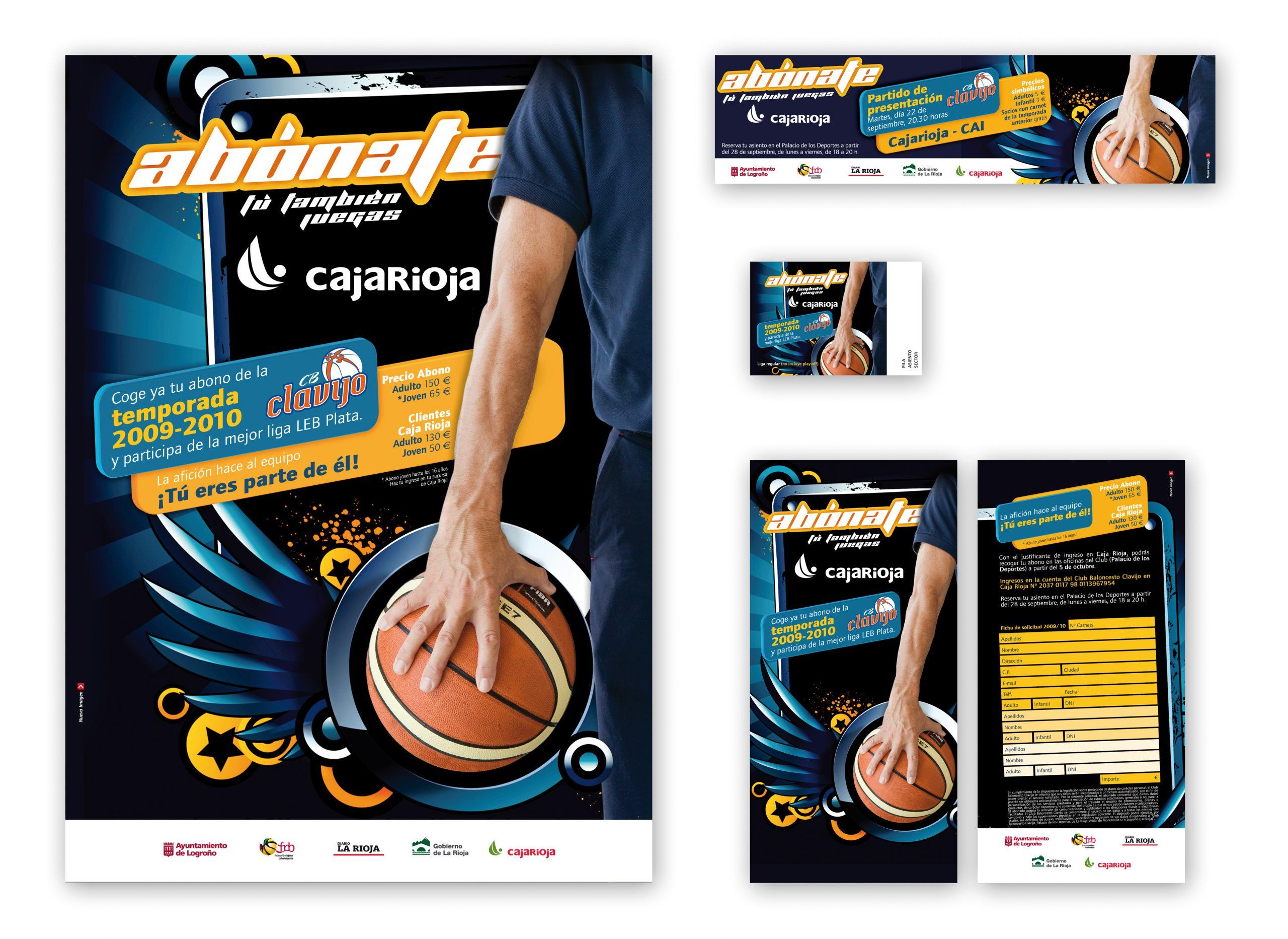Campaña promocional para el Club Baloncesto Clavijo. Temporada 2009-2010
